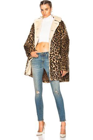 R13 Leopard Huntington Coat in