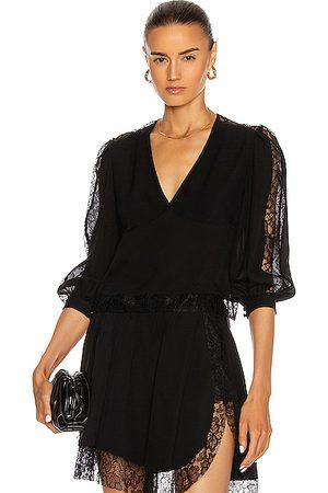 FLEUR DU MAL Women Blouses - Lace Insert Pintuck Blouse in
