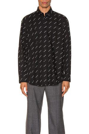 Balenciaga Logo Long Sleeve Shirt in
