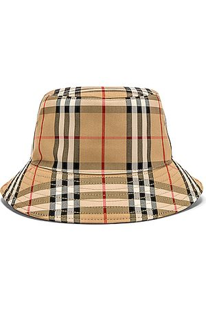 Burberry Heavy Cotton Check Bucket Hat in Neutral,Plaid