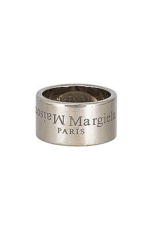 Maison Margiela Rings - Logo Ring in Metallic