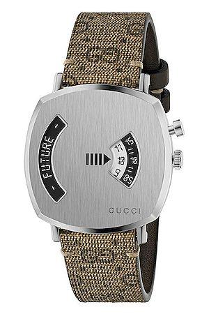 Gucci Grip Watch in Neutral,Metallic
