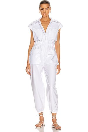 Norma Kamali Sleeveless NK Cargo Jumpsuit in