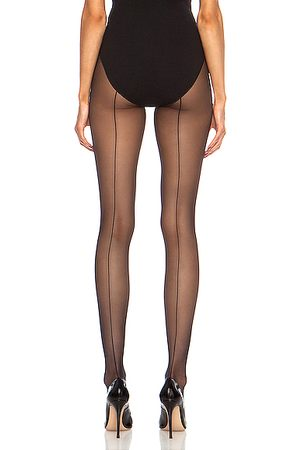 Wolford Individual 10 Back Seam Polyamide-Blend Tights in