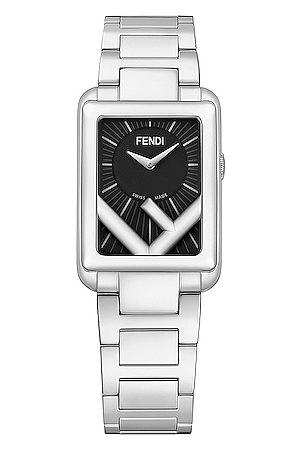 Fendi Runaway Rectangle Watch in Metallic