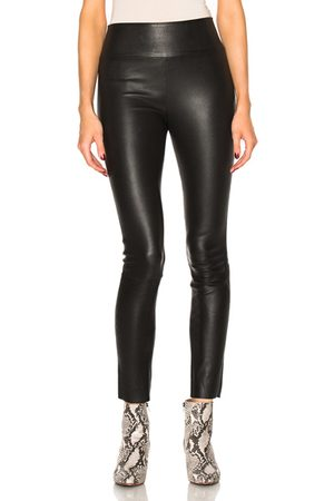 SPRWMN High Waist Leather Ankle Leggings in