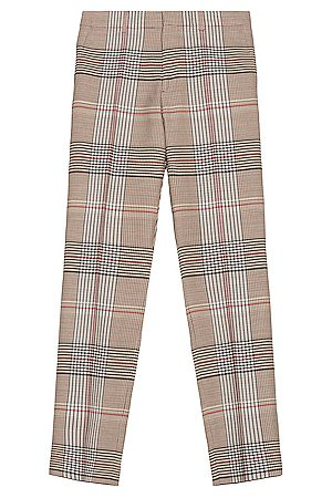 Burberry Wool Check Trouser in Neutral,Plaid