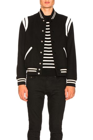 Saint Laurent Teddy Bomber Jacket in