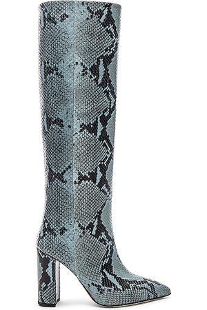 PARIS TEXAS Thigh High Boots - Knee High Python Print Boot in