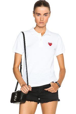 Comme des Garçons Polo Shirts - Cotton Polo with Emblem in