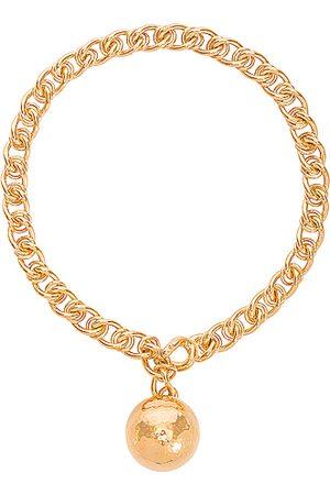 Bottega Veneta Necklace in Metallic Gold