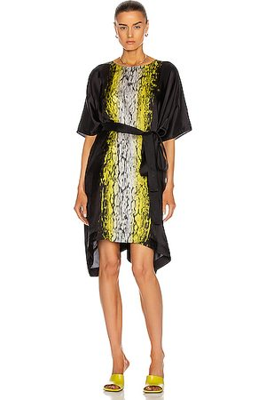 Rick Owens Minverva Mini Dress in Abstract,