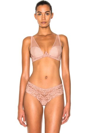 FLEUR DU MAL Women Bras - Sheer Overlay Demi Bra in Neutrals