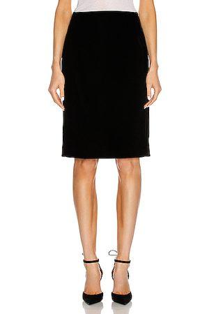 Saint Laurent Maxi Skirts - Velvet Long Skirt in