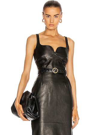 MAGDA BUTRYM Tank Tops - Leather Bustier Top in