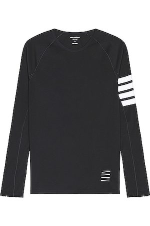 Thom Browne Long Sleeve - 4 Bar Compression Tee in