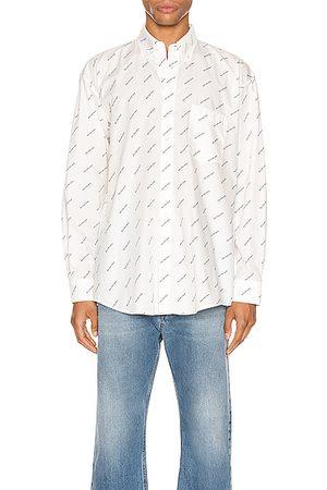 Balenciaga Long sleeves - Normal Fit Long Sleeve Shirt in Abstract