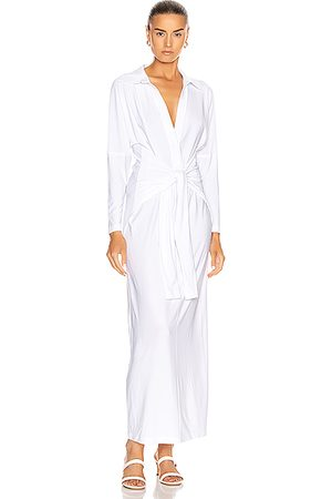 Norma Kamali Women Casual Dresses - Tie Front NK Shirt Dress in