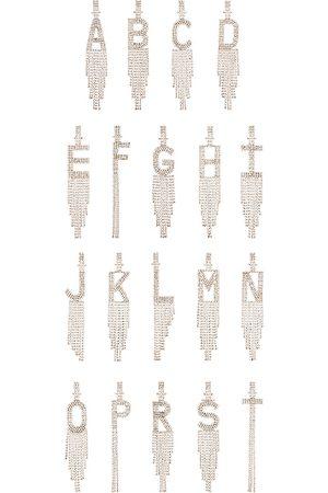 Retrofete Earrings - Alphabet Earring in Metallic