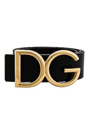 Dolce & Gabbana Logo Belt in