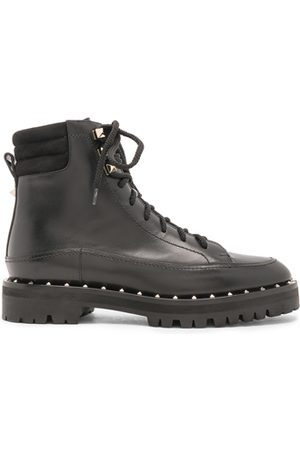 VALENTINO Outdoor Shoes - Leather Soul Rockstud Hiking Boots in