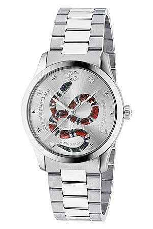 Gucci 38MM G-Timeless Snake Bracelet Watch in Metallics