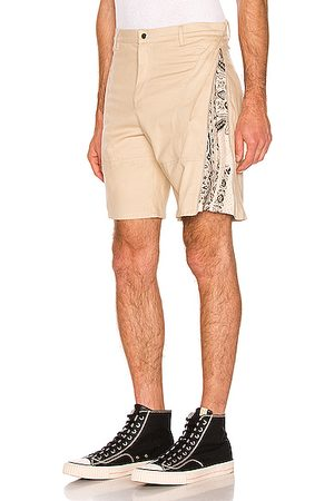 Paria Farzaneh Shorts - Brush Cotton Monochrome Zip Short in Neutral