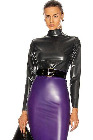 Saint Laurent Bodies - Long Sleeve Latex Bodysuit in