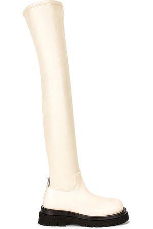 Bottega Veneta Thigh High Boots - The Lug Boots in Neutral