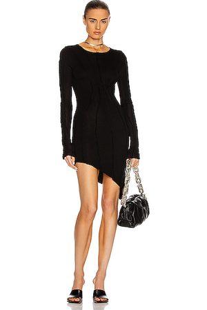 SAMI MIRO VINTAGE Asymmetrical Dresses - Asymmetric Long Sleeve Mini Dress in