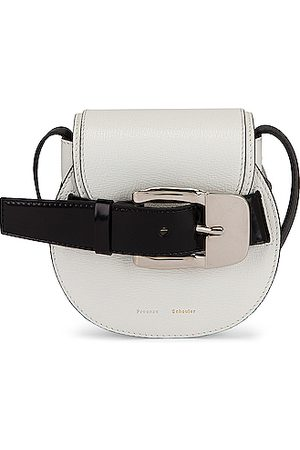 Proenza Schouler Women Shoulder Bags - Mini Leather Buckle Crossbody Bag in
