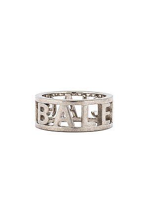 Balenciaga Logo Ring in Metallic