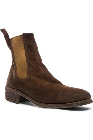 GUIDI Stag Chelsea Boots in