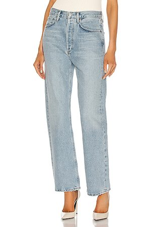AGOLDE 90's Mid Rise Loose Fit in Denim-Light