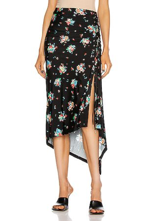 Paco rabanne Ruched Midi Skirt in ,Floral