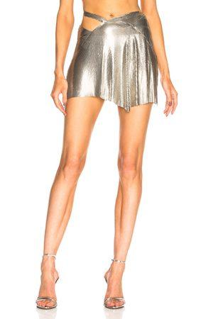 FANNIE SCHIAVONI Mesh Skirt in Metallic
