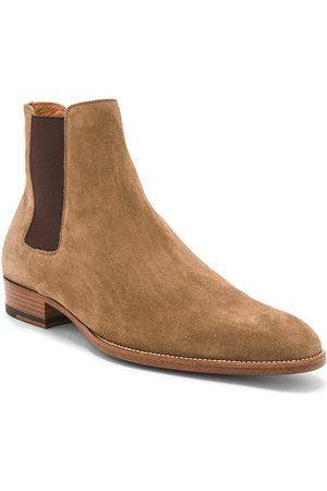 Saint Laurent Chelsea Boots - Suede Wyatt Chelsea Boots in