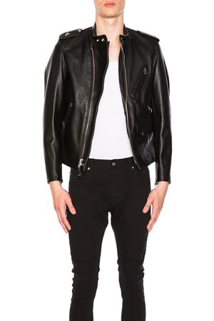 Schott NYC Leather Jackets - Cafecto Steerhide Hybrid Cafe Racer in