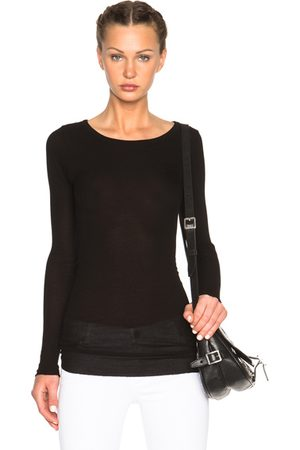 ENZA COSTA Long Sleeve - Rib Viscose-Blend Tee in