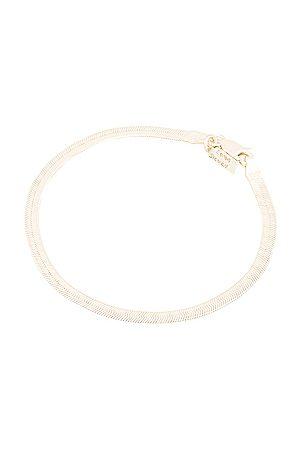 LOREN STEWART Herringbone Bracelet in Metallic