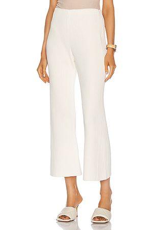 Proenza Schouler Women Wide Leg Pants - Chunky Rib Crop Flare Pant in