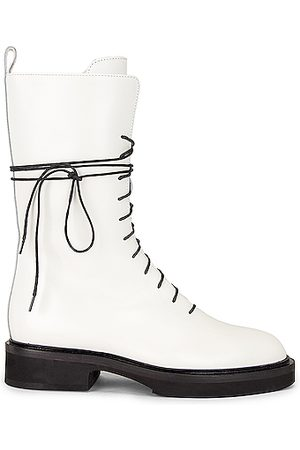 Khaite Lace-up Boots - Conley Lace Up Combat Boots in