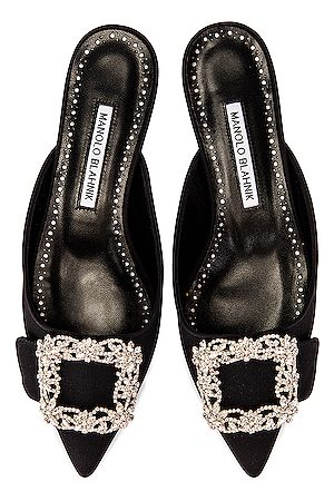 Manolo Blahnik Women Mules - Maysale 10 Jewel Mule in