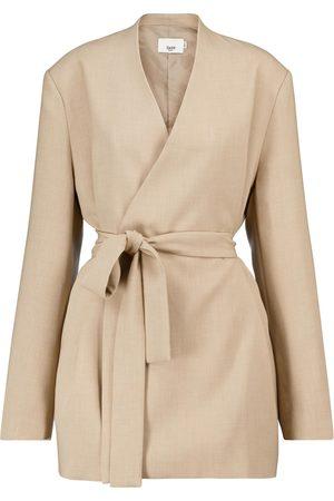 Frankie Shop Belted longline blazer