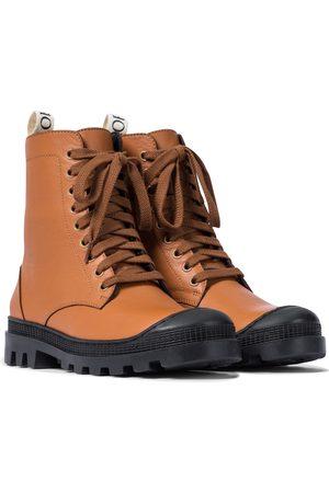 Loewe Leather combat boots