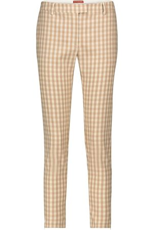 Altuzarra Henri checked wool-blend slim pants