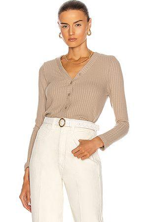 ENZA COSTA Cardigans - Sweater Rib Cropped Cardigan in Neutral