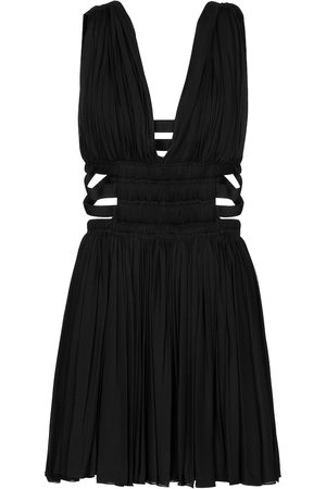Alaïa Edition 2004 pleated jersey minidress