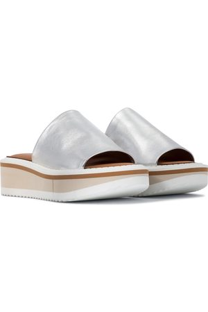 Robert Clergerie Fastie leather platform slides