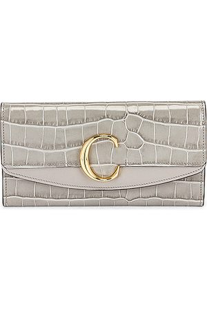 Chloé Women Clutches - C Embossed Croc Clutch in